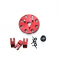STRC CNC Machined 3-shoe style clutch kit for Revo/Nitro Slash (Red)