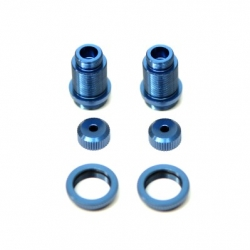 CNC Machined Alum. threaded shock bodies w/alum. collars for Traxxas 4Tec 2.0 (Blue) 1 pair