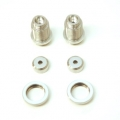 CNC Machined Alum. threaded shock bodies w/alum. collars for Traxxas 4Tec 2.0 (Silver) 1 pair