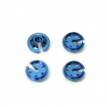 CNC Machined Alum. lower shock spring retainersTraxxas 4Tec 2.0 (4 pcs) blue