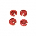 CNC Machined Alum. lower shock spring retainersTraxxas 4Tec 2.0 (4 pcs) Red