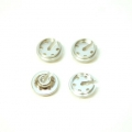 CNC Machined Alum. lower shock spring retainersTraxxas 4Tec 2.0 (4 pcs) Silver