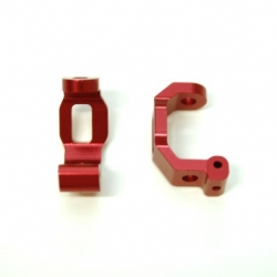 CNC Machined Alum. HD Front Caster Blocks (1 pair) for Traxxas 4Tec 2.0 (Red)