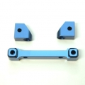 CNC Machined Alum. Front Hinge-pin blocks for Traxxas 4Tec 2.0 (3pcs set) Blue