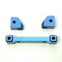 CNC Machined Alum. Rear Hinge-pin blocks for Traxxas 4Tec 2.0 (3pcs set) Blue