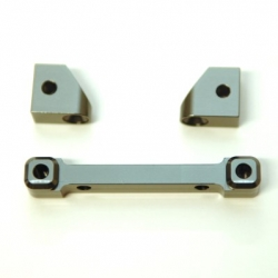 CNC Machined Alum. Front Hinge-pin blocks for Traxxas 4Tec 2.0 (3pcs set) GM