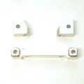 CNC Machined Alum. Front Hinge-pin blocks for Traxxas 4Tec 2.0 (3pcs set) Silver