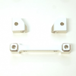 CNC Machined Alum. Rear Hinge-pin blocks for Traxxas 4Tec 2.0 (3pcs set) Silver