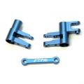 CNC Machined Alum. Steering Bellcrank Set (3 pcs) for 4Tec 2.0 (Blue)