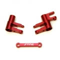 CNC Machined Alum. Steering Bellcrank Set (3 pcs) for 4Tec 2.0 (Red)