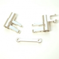 CNC Machined Alum. Steering Bellcrank Set (3 pcs) for 4Tec 2.0 (Silver)