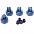 CNC Machined Alum. Shock caps (4 pcs w/alum. Shock bushings) for Traxxas 4Tec 2.0 (Blue)
