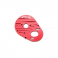 STRC CNC Machined Aluminum Heatsink Motor Plate for SC10, T4 and B4 (Red)