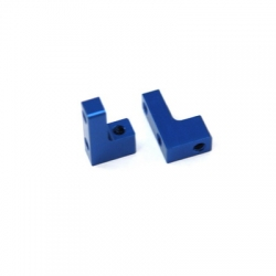 STRC CNC Machined Aluminum servo Mounts for SC10/B4/T4 1 pair (Blue)