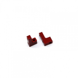 STRC CNC Machined Aluminum servo Mounts for SC10/B4/T4 1 pair (Red)