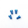 STRC CNC Machined HD Aluminum Upper Shock Mount bushings (4 pcs) for SC10 B4 T4 (Blue)