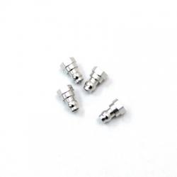 STRC CNC Machined HD Aluminum Upper Shock Mount bushings (4 pcs) for SC10 B4 T4 (Silver)