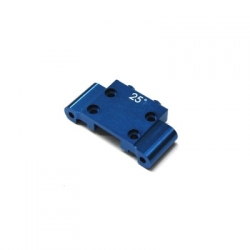 CNC Machined Aluminum Front Bulkhead (25 Deg.) Associated B5, B5M, T5M (Blue)