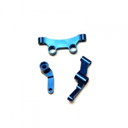 CNC Machined Aluminum Steering Bellcrank set for B5, B5M, T5M (Blue)