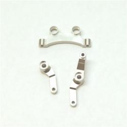 CNC Machined Aluminum Steering Bellcrank set for B5, B5M, T5M (silver)