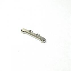 CNC Machined Aluminum HD Front Hinge-pin Brace for Associated B5, B5M, T5M (Silver)