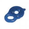 STRC Heatsink Finned CNC Machined Aluminum Motor Plate, Associated B5/B5M (Blue)