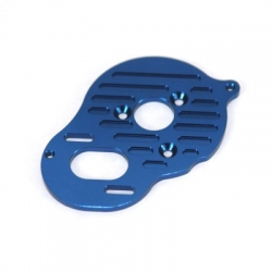 STRC Heatsink Finned CNC Machined Aluminum Motor Plate, Associated B5/B5M/T5M (Blue)