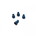 CNC Machined Aluminum Upper Shock Mount Bushings (4pcs) for Associated B5, B5M, T5M (Blue)