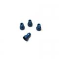 CNC Machined Aluminum Upper Shock Mount Bushings (4pcs) for Associated B5, B5M, T5M (Blue)