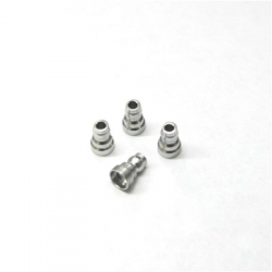 CNC Machined Aluminum Upper Shock Mount Bushings (4pcs) for Associated B5, B5M, T5M (Silver)