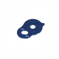 CNC Machined Aluminum 3-Gear Motor Plate for B5M, SC5M, T5M (Blue)