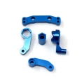 STRC CNC Machined Aluminum Steering bellcrank set for SC10/T4/B4 (Blue)