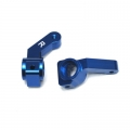 STRC Inboard Bearing CNC Machined Aluminum Steering Knuckle for Associated SC10/B4/T4 (blue)