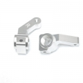 STRC Inboard Bearing CNC Machined Aluminum Steering Knuckle for Associated SC10/B4/T4 (Silver)