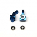 CNC Machined Alum. Front Steering Knuckle w/larger 5x11mm outer bearing (Blue) 1 pair