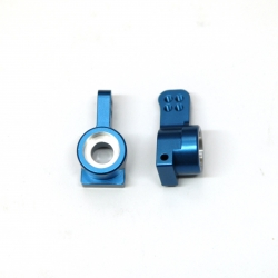 CNC Machined Aluminum Precision Rear Hub Carriers (Blue) 1 pair
