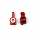 CNC Machined Aluminum Precision Rear Hub Carriers (Red) 1 pair