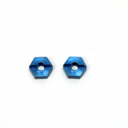 CNC Machined Aluminum Front Hex Adapters (1 pair) Granite/Raider, XL, Vorteks, Fury (Blue)