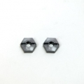 CNC Machined Aluminum Front Hex Adapters (1 pair) Granite/Raider, XL, Vorteks, Fury (GM)