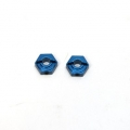 CNC Machined Aluminum Rear Hex Adapters (1 pair) Granite/Raider, XL, Vorteks, Fury (Blue)