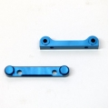 CNC Machined Aluminum Heavy Duty Front and Rear Hinge-Pin Block Set (Blue) 1 pair