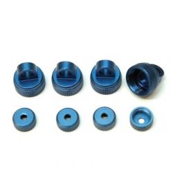 CNC Machined Aluminum Upper (4pcs) and Lower (4 pcs) shock caps for Granite, Vorteks, Fury, Raider, (B)
