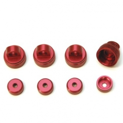 CNC Machined Aluminum Upper (4pcs) and Lower (4 pcs) shock caps for Granite, Vorteks, Fury, Raider, (R)