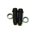 CNC Machined Alum. Threaded Rear shock bodies w/O-ring collar, Granite, Vorteks, Raider, Fury (BK/GM)