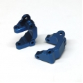CNC Machined Aluminum Precision Front Caster Blocks (Blue) 1 pair