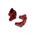 CNC Machined Aluminum Precision Front Caster Blocks (Red) 1 pair