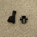 CNC Machined Brass Front Lower Shock Mount (1 pair) for Traxxas TRX-4 (BK)