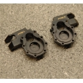 CNC Machined Brass Front Axle Steering Knuckles (1 pair) for TRX-4 (Black)