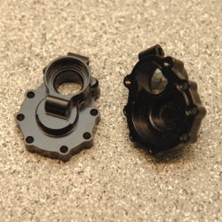 CNC Machined Brass Rear Axle Inner Portal Drive Housing (1 pair) for TRX-4 (Black)