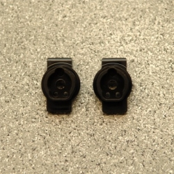 CNC Machined Brass Rear Axle Portal Drive Mount (1 pair) for Traxxas TRX-4 (BK)